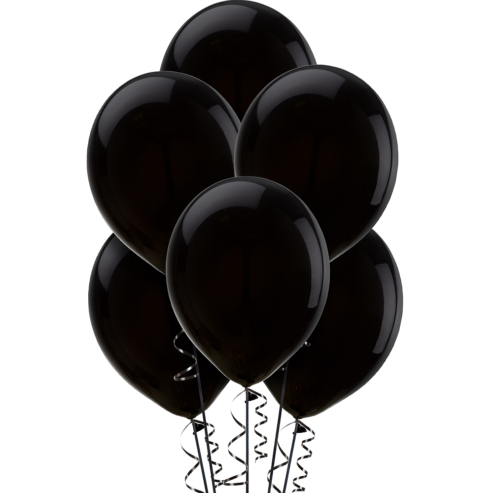 Nav Item for Black Balloons 15ct, 12in Image #1