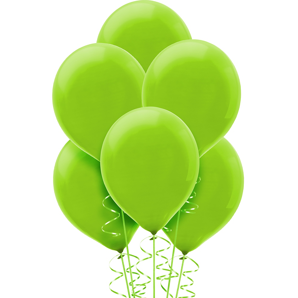 Kiwi Green Balloons 15ct, 12in Image #1
