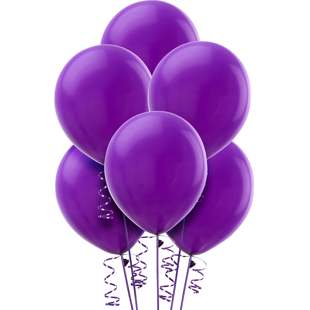 Purple Balloons 15ct Image #1