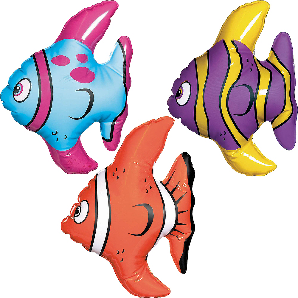 Nav Item for Inflatable Tropical Fishes 3ct Image #1