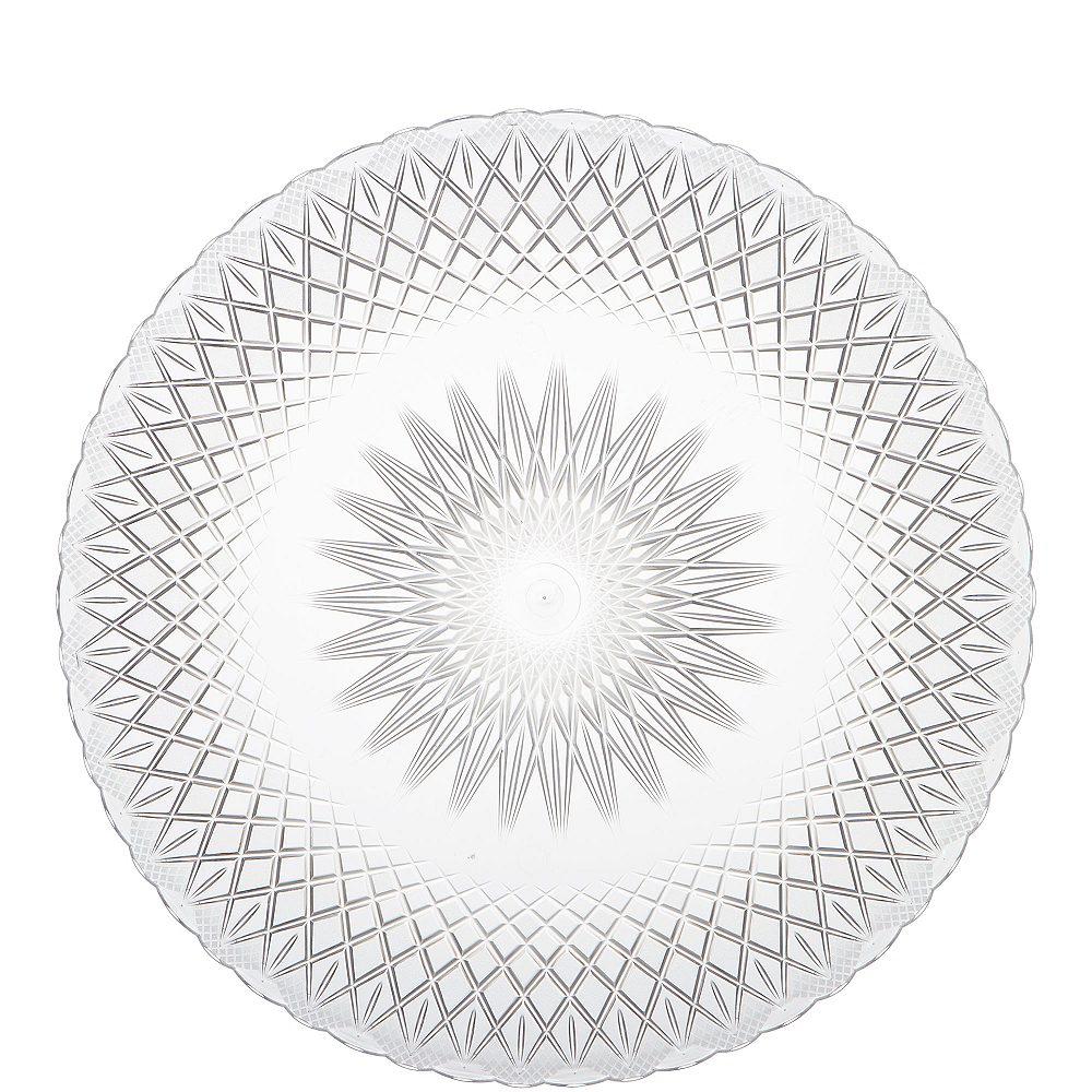 Nav Item for CLEAR Plastic Crystal Cut Platter Image #1