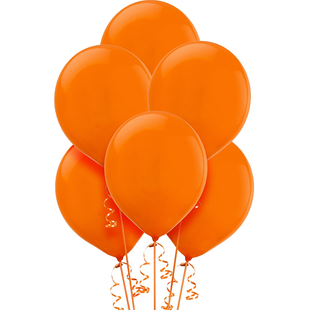 Orange Balloons 15ct Image #1