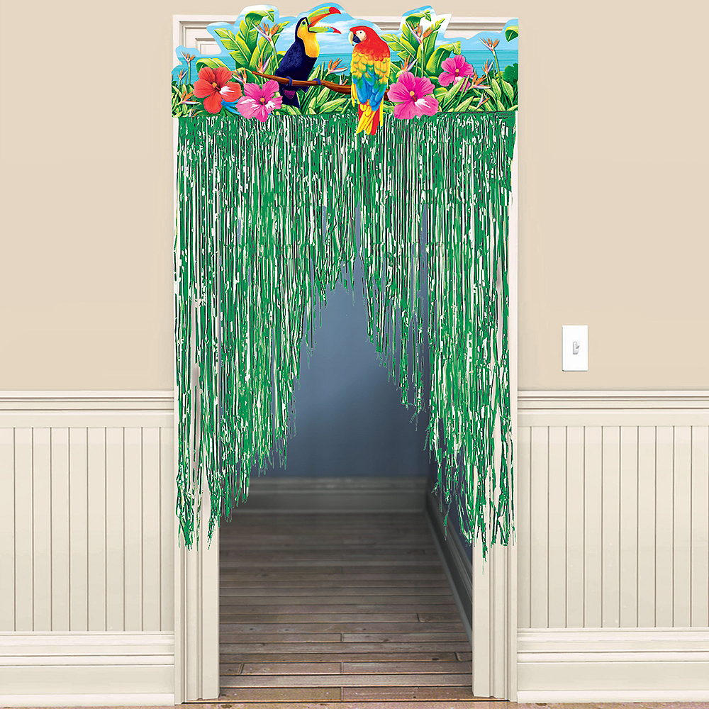 Tropical Birds Door Curtain Image #1