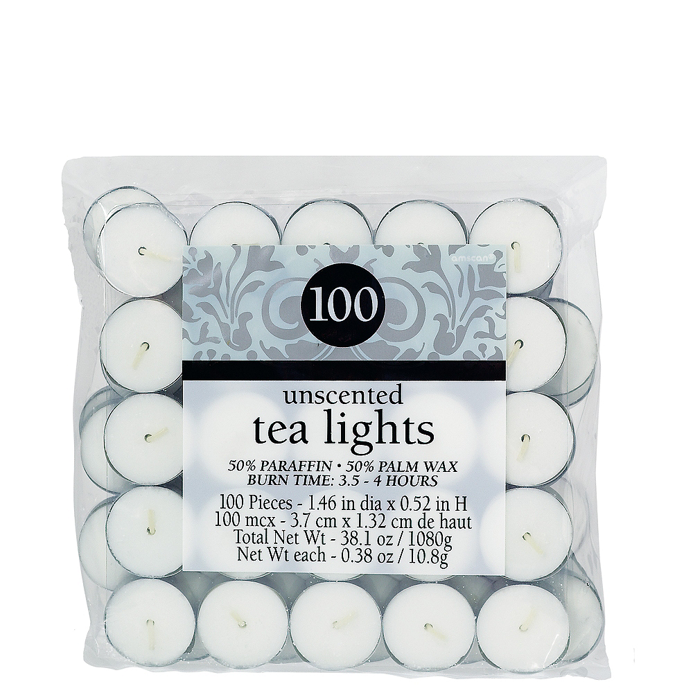 Unscented White Tealight Candles 100ct Image #1