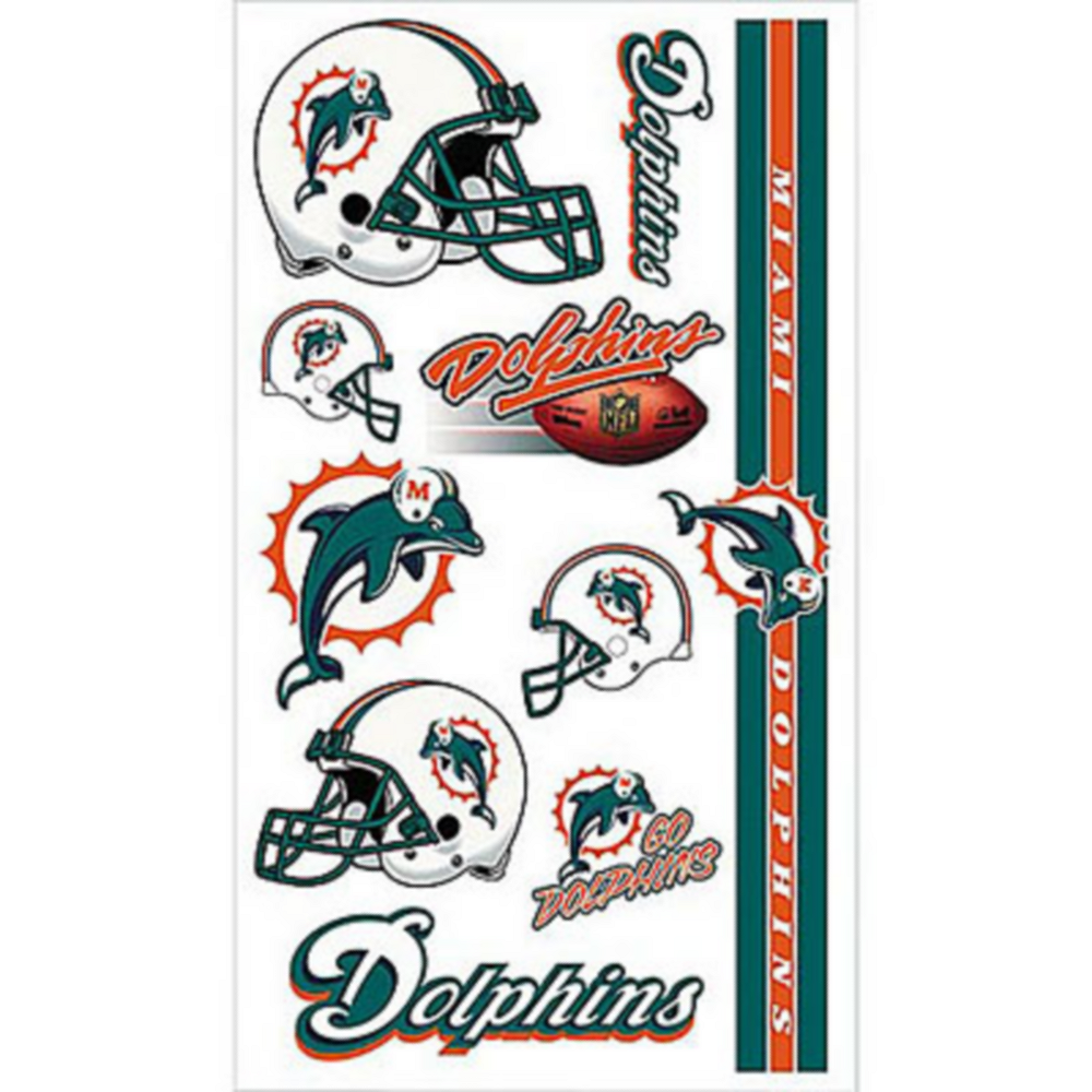 Miami Dolphins Tattoos 10ct Image #1