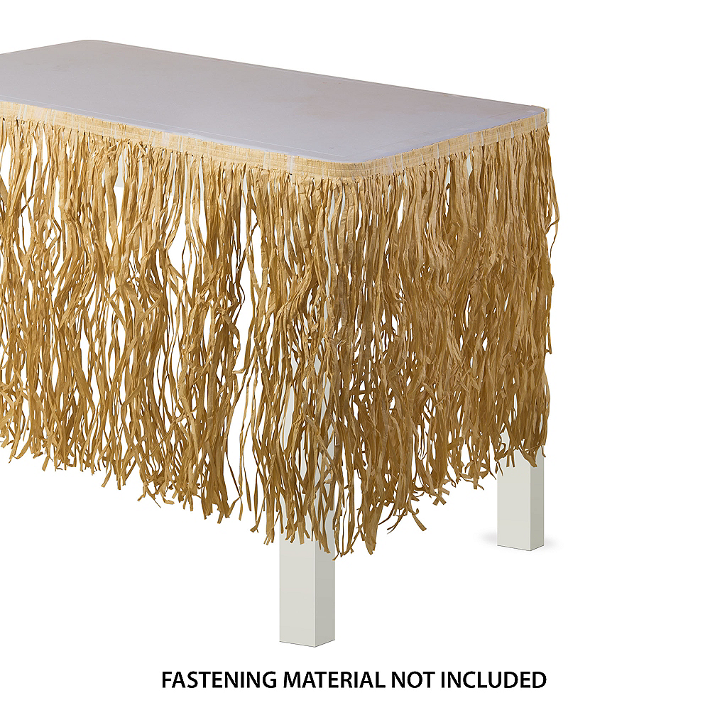 Natural Raffia Table Skirt Image #1