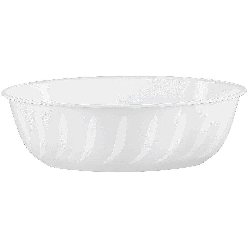 CLEAR Plastic Swirl Oval Bowl Image #1