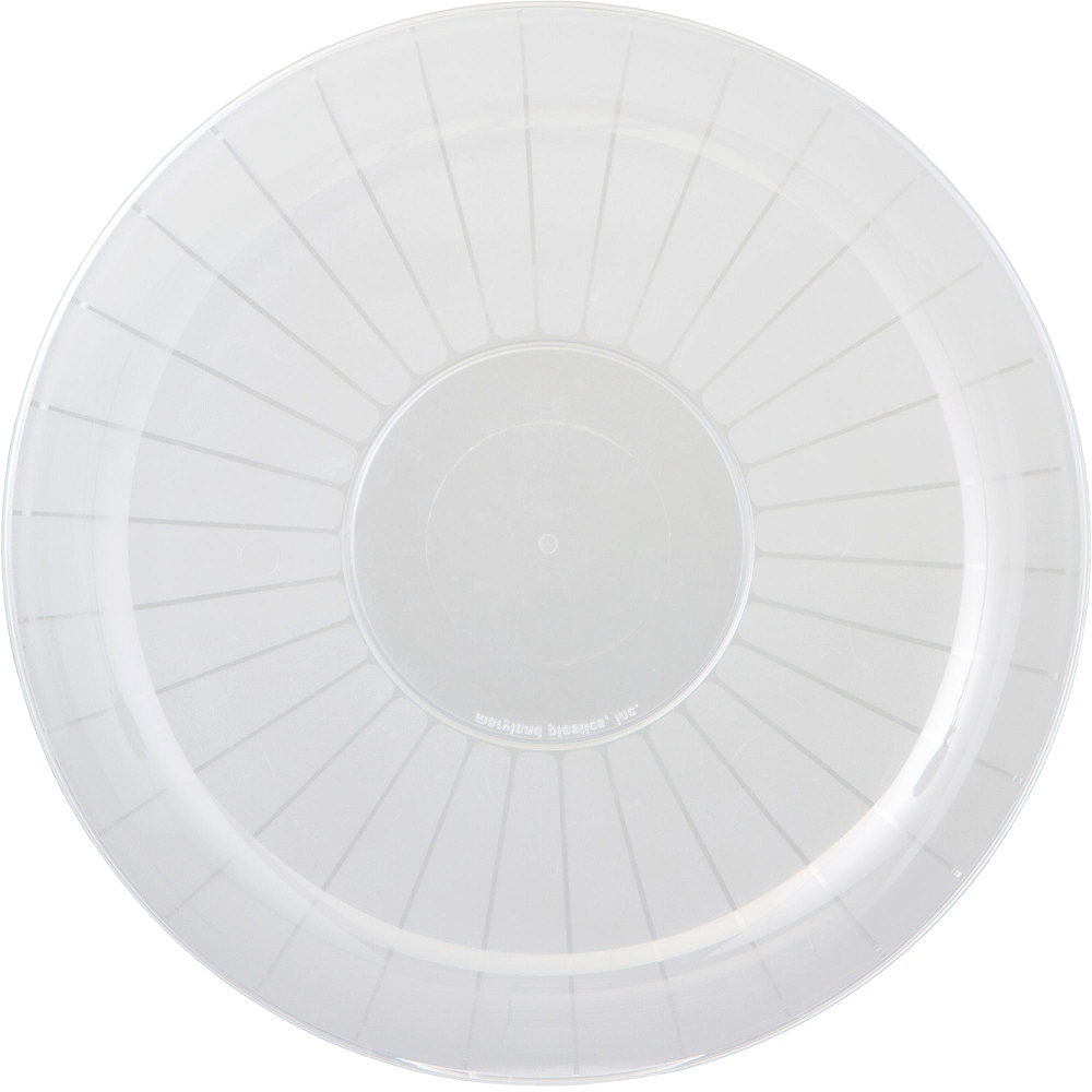 Nav Item for CLEAR Plastic Frosted Platter Image #1