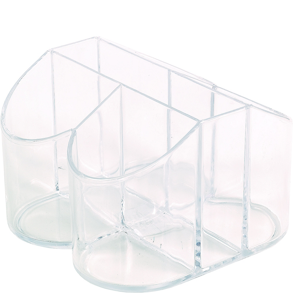 CLEAR Plastic Cutlery Caddy Image #2