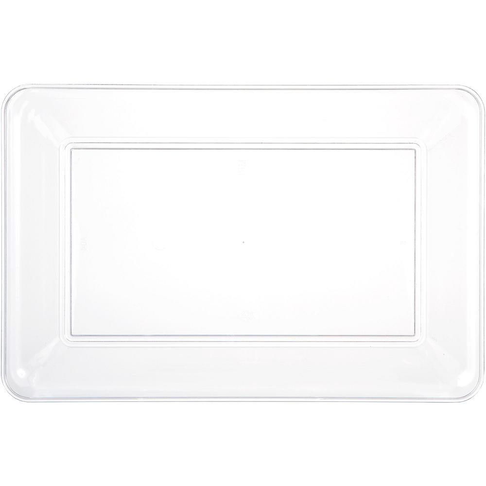 CLEAR Plastic Rectangular Platter Image #1