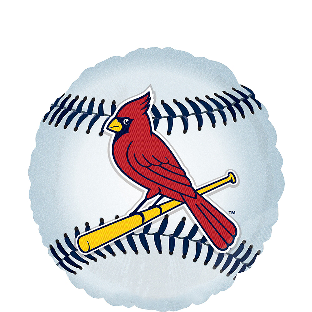 Remarkable St Louis Cardinals Balloon 17In Baseball Party City Funny Birthday Cards Online Fluifree Goldxyz