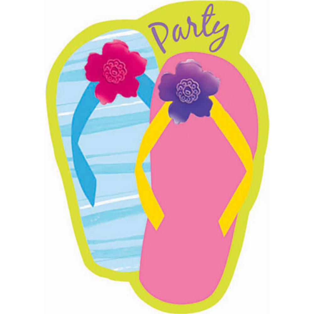 Flip Flop Razzle Dazzle Invitations 8ct Image #1