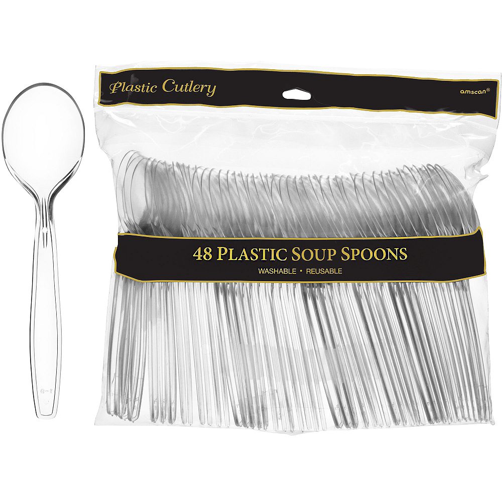 Nav Item for CLEAR Premium Plastic Spoons 48ct Image #1