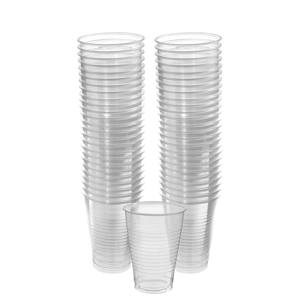 Big Party Pack CLEAR Plastic Cups 50ct Image #1