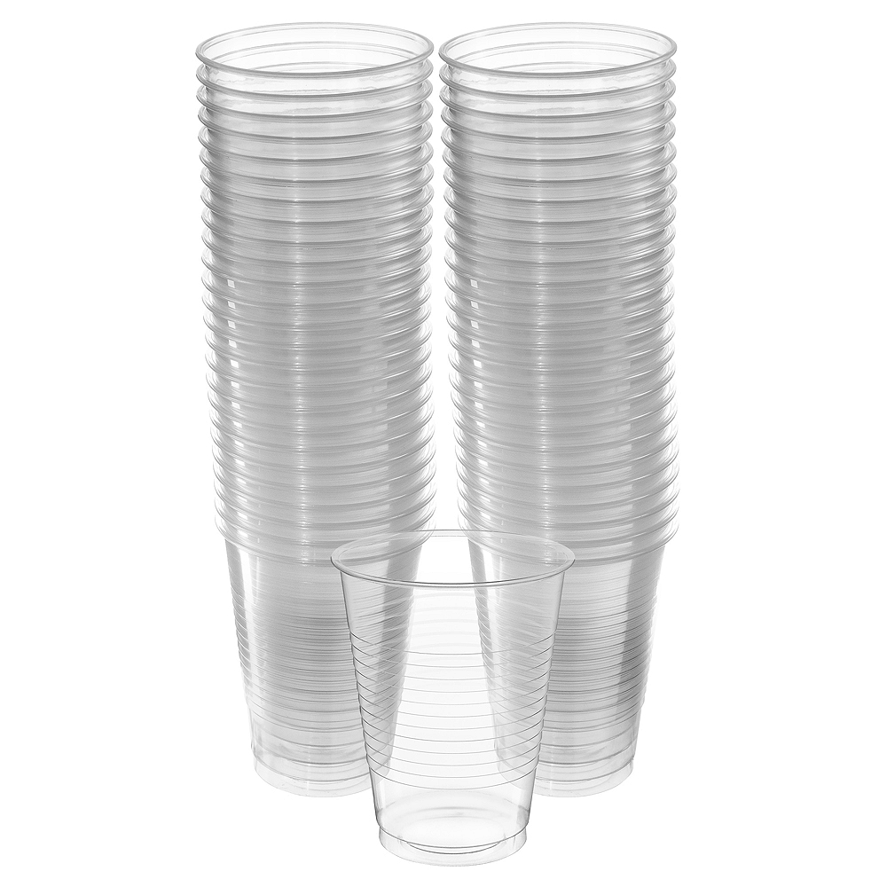 Nav Item for Big Party Pack CLEAR Plastic Cups 50ct Image #1