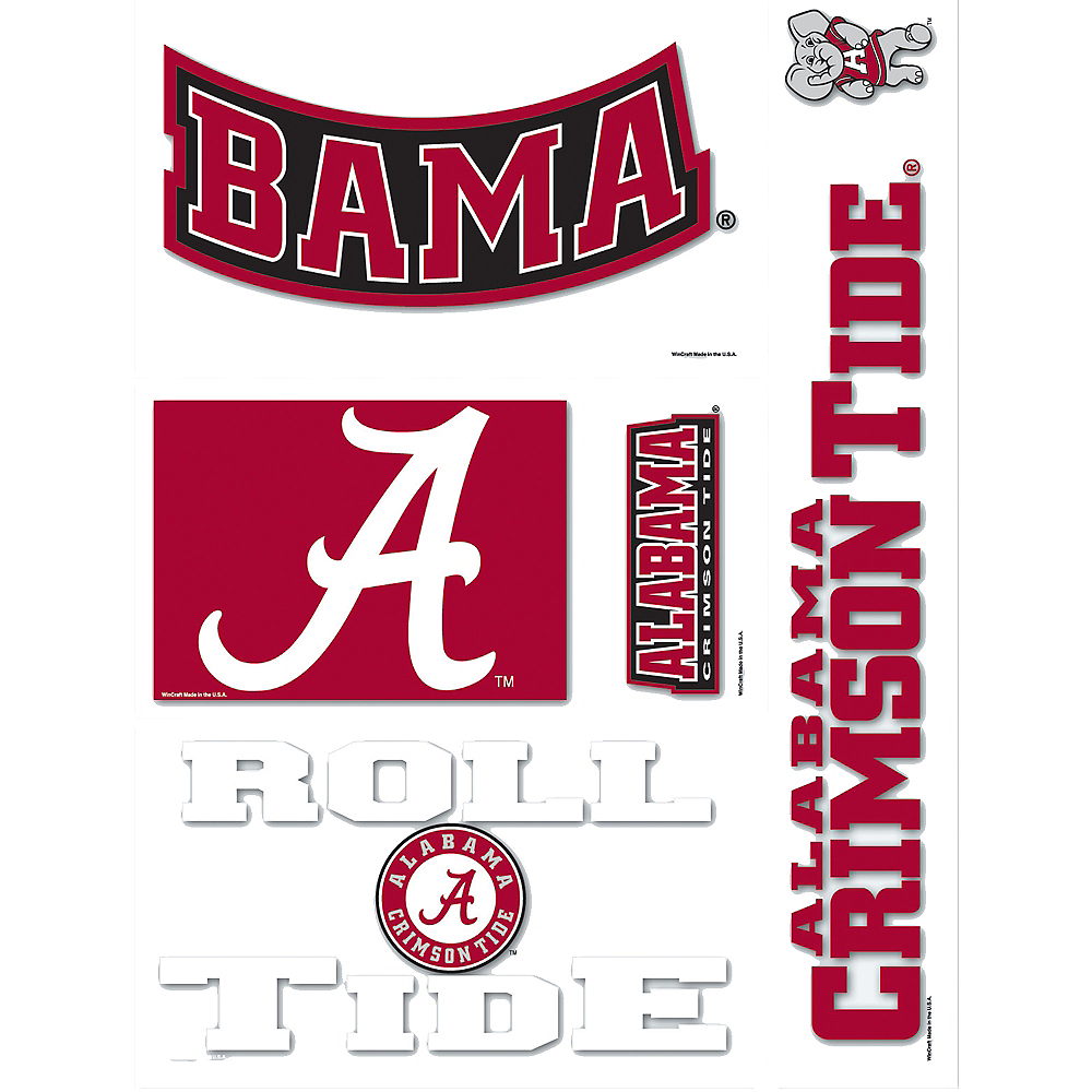 Alabama Crimson Tide Decals 5ct Image #1