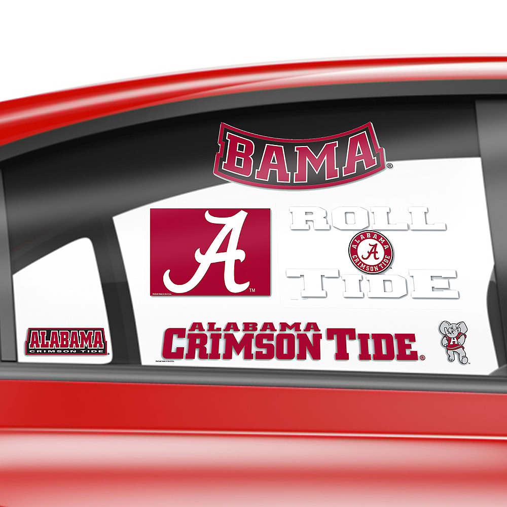 Alabama Crimson Tide Decals 5ct Image #2