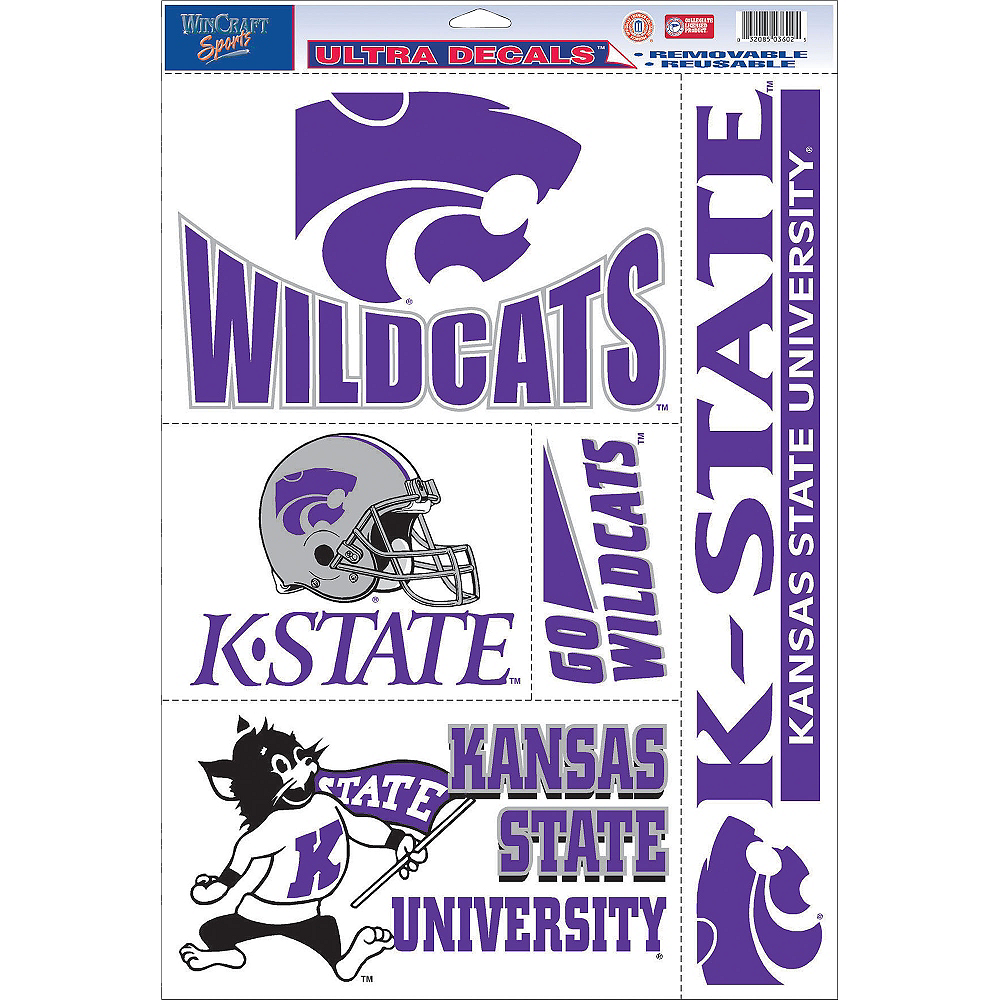 Kansas State Wildcats Decals 5ct Image #1