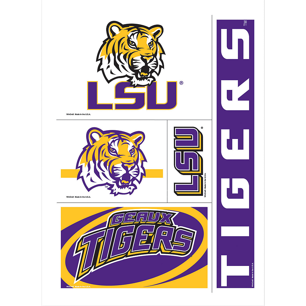 Louisiana State Tigers Decals 5ct Image #1