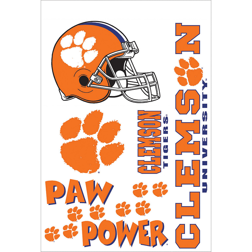 Clemson Tigers Decals 5ct Image #1