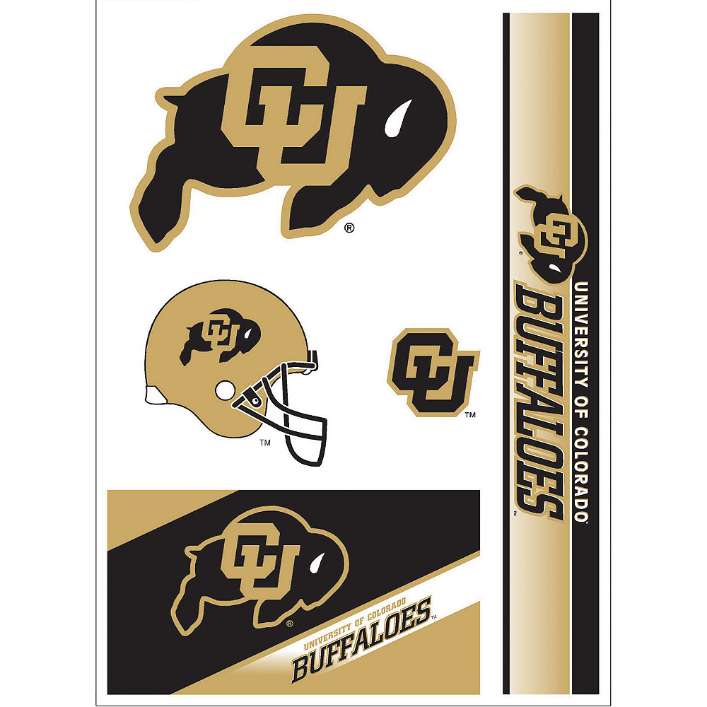 Colorado Buffaloes Decals 5ct Image #1