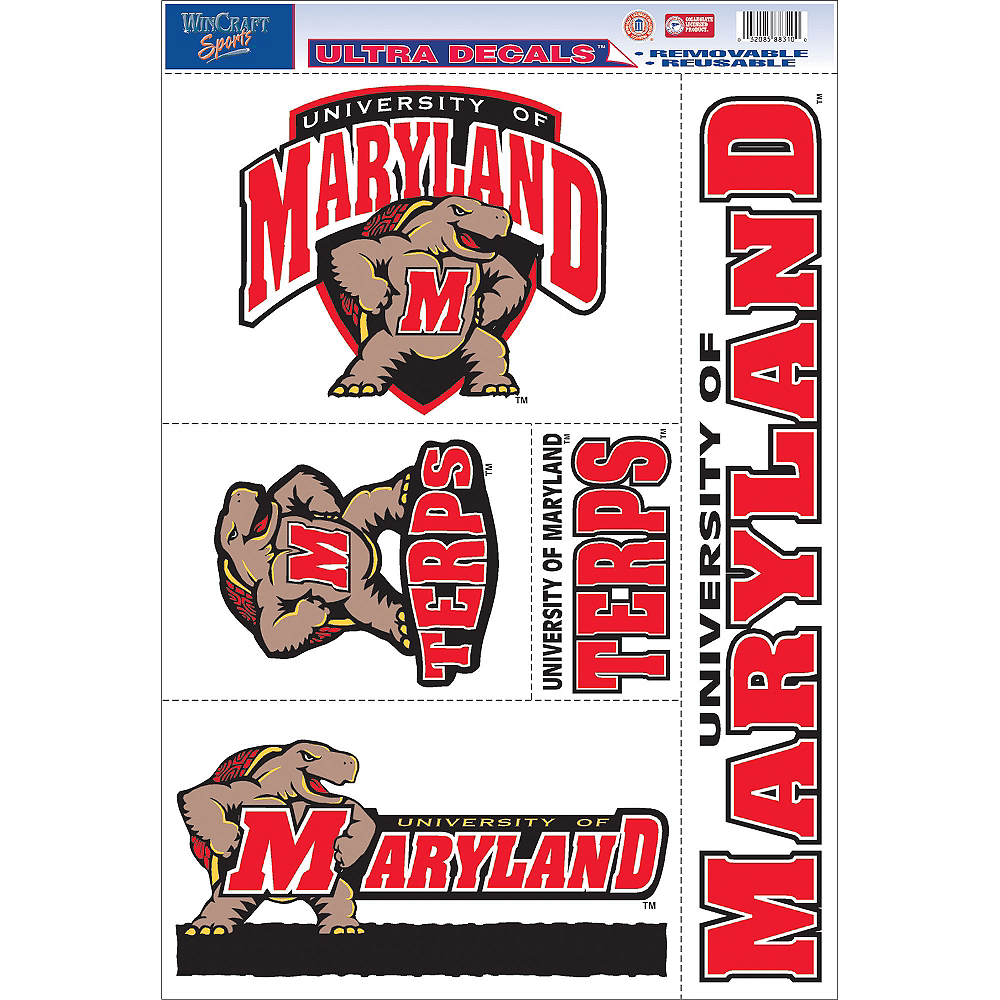 Maryland Terrapins Decals 5ct Image #1