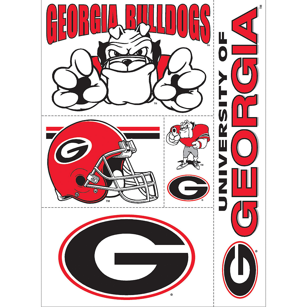 Georgia Bulldogs Decals 5ct Image #1