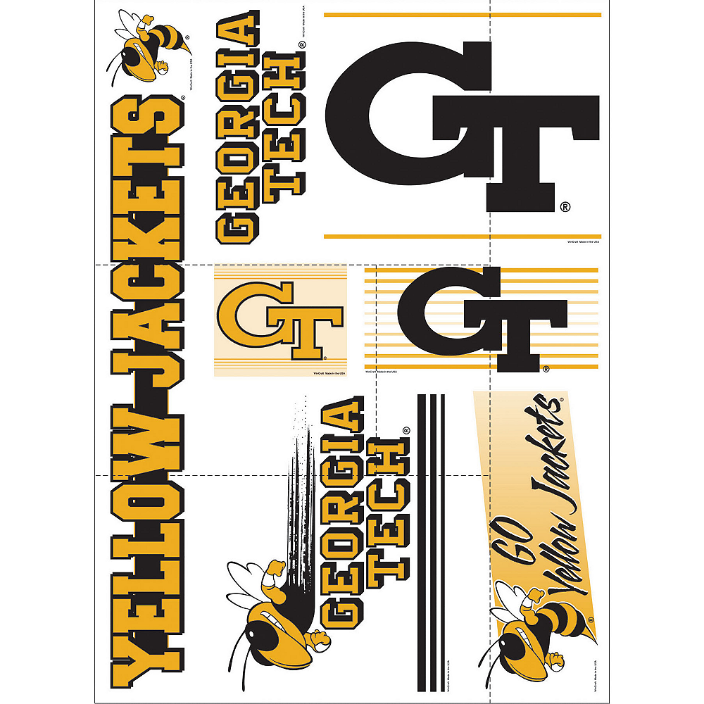 Georgia Tech Yellow Jackets Decals 7ct Image #1