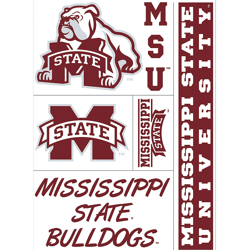 Mississippi State Bulldogs Decals 5ct Image #1