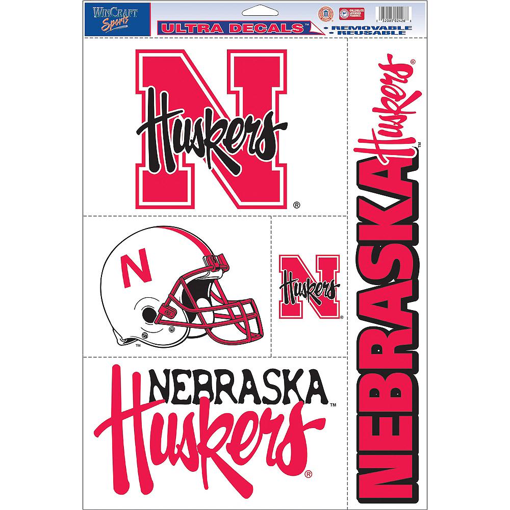 Nebraska Cornhuskers Decals 5ct Image #1