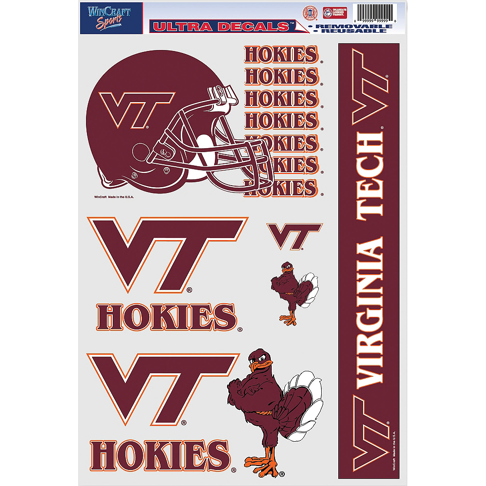 Virginia Tech Hokies Decals 5ct Image #1