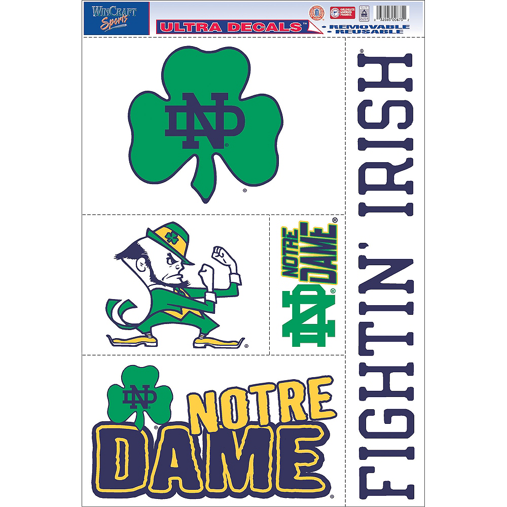 Notre Dame Fighting Irish Decals 5ct Image #1