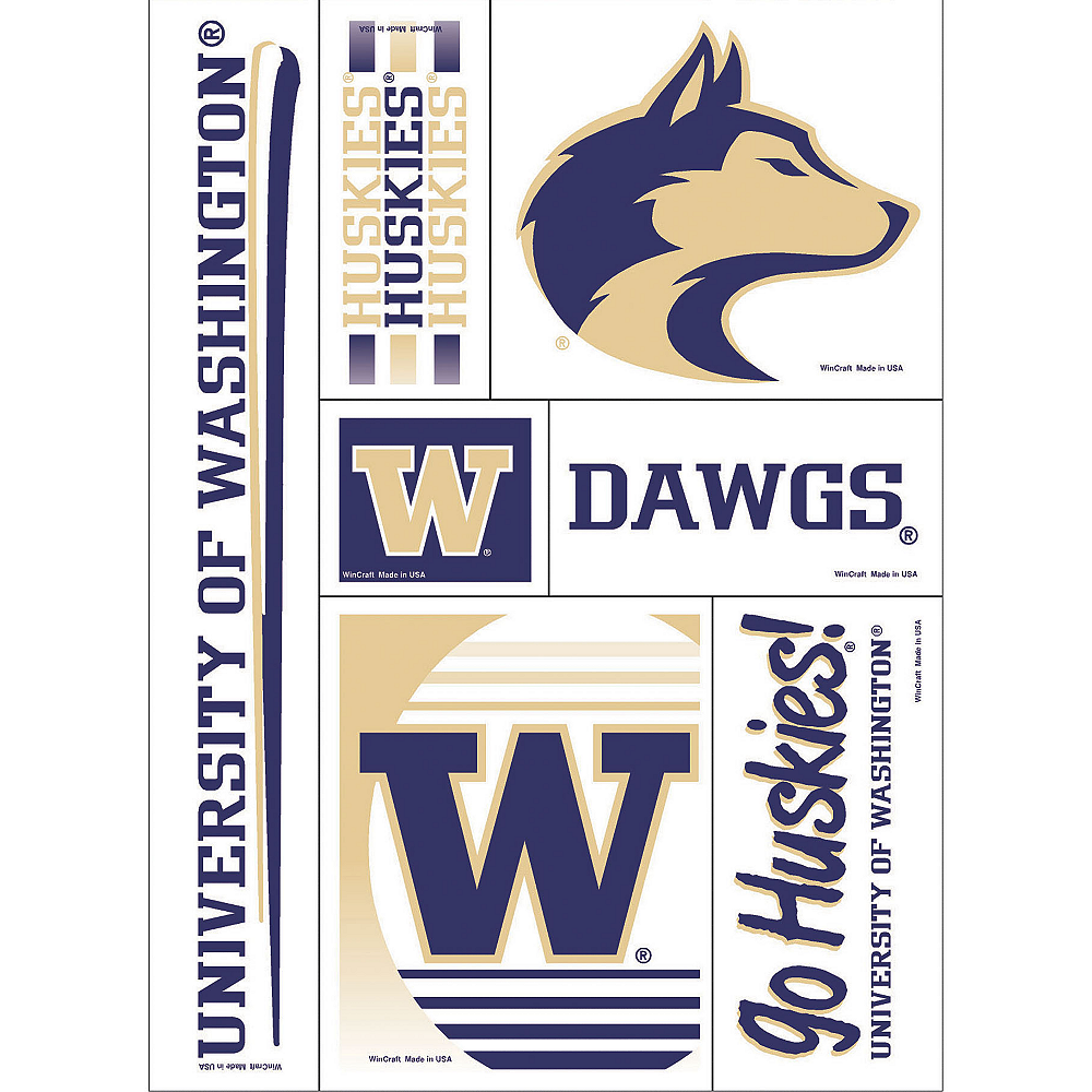 Washington Huskies Decals 5ct Image #1