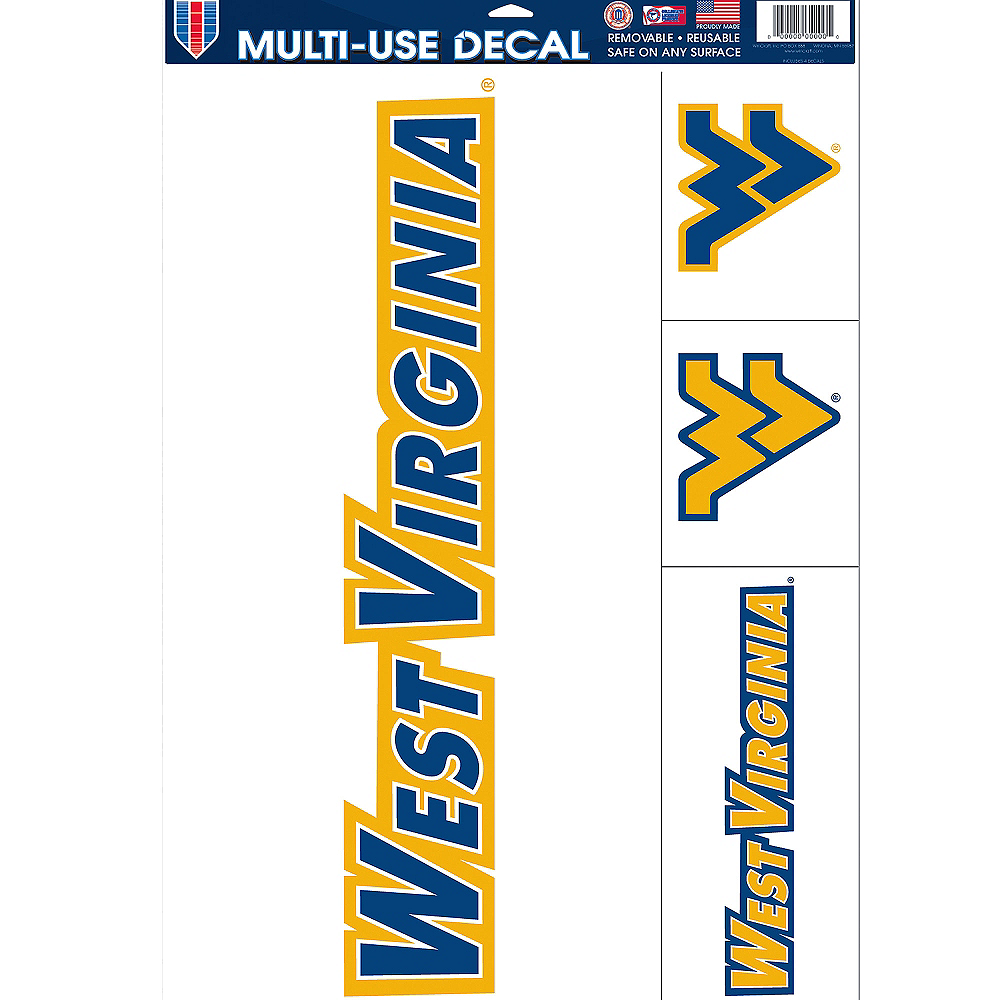 West Virginia Mountaineers Decals 4ct Image #1