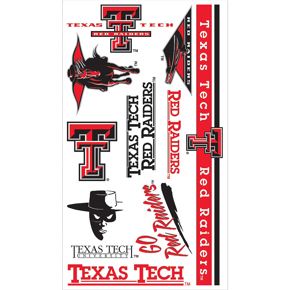 Texas Tech Red Raiders Tattoos 10ct Image #1