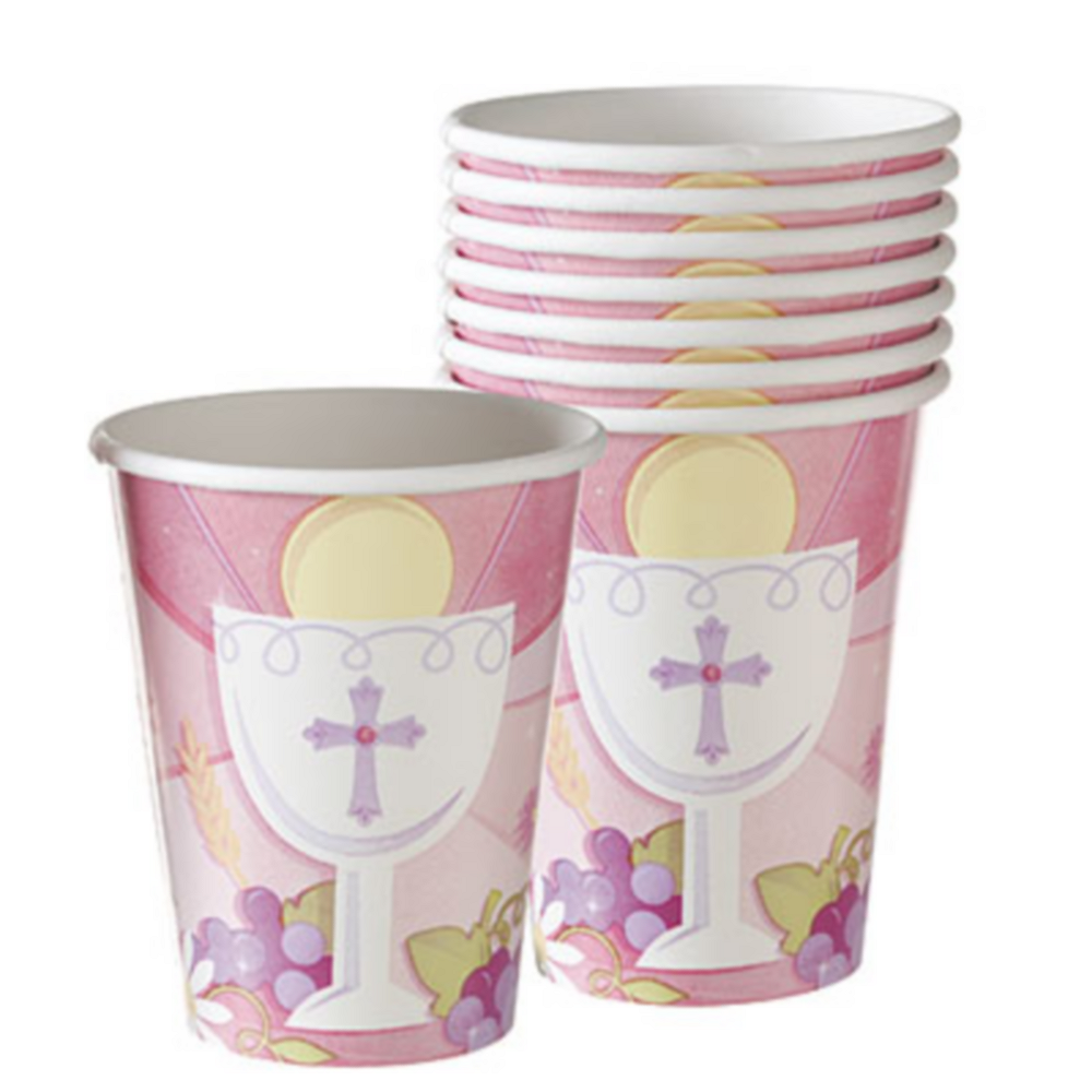 Girl's First Communion Cups 18ct Image #1