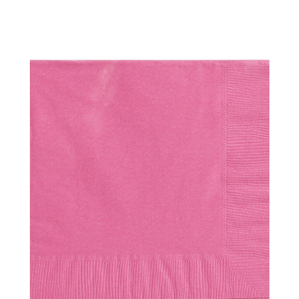 Nav Item for Big Party Pack Bright Pink Lunch Napkins 125ct Image #1