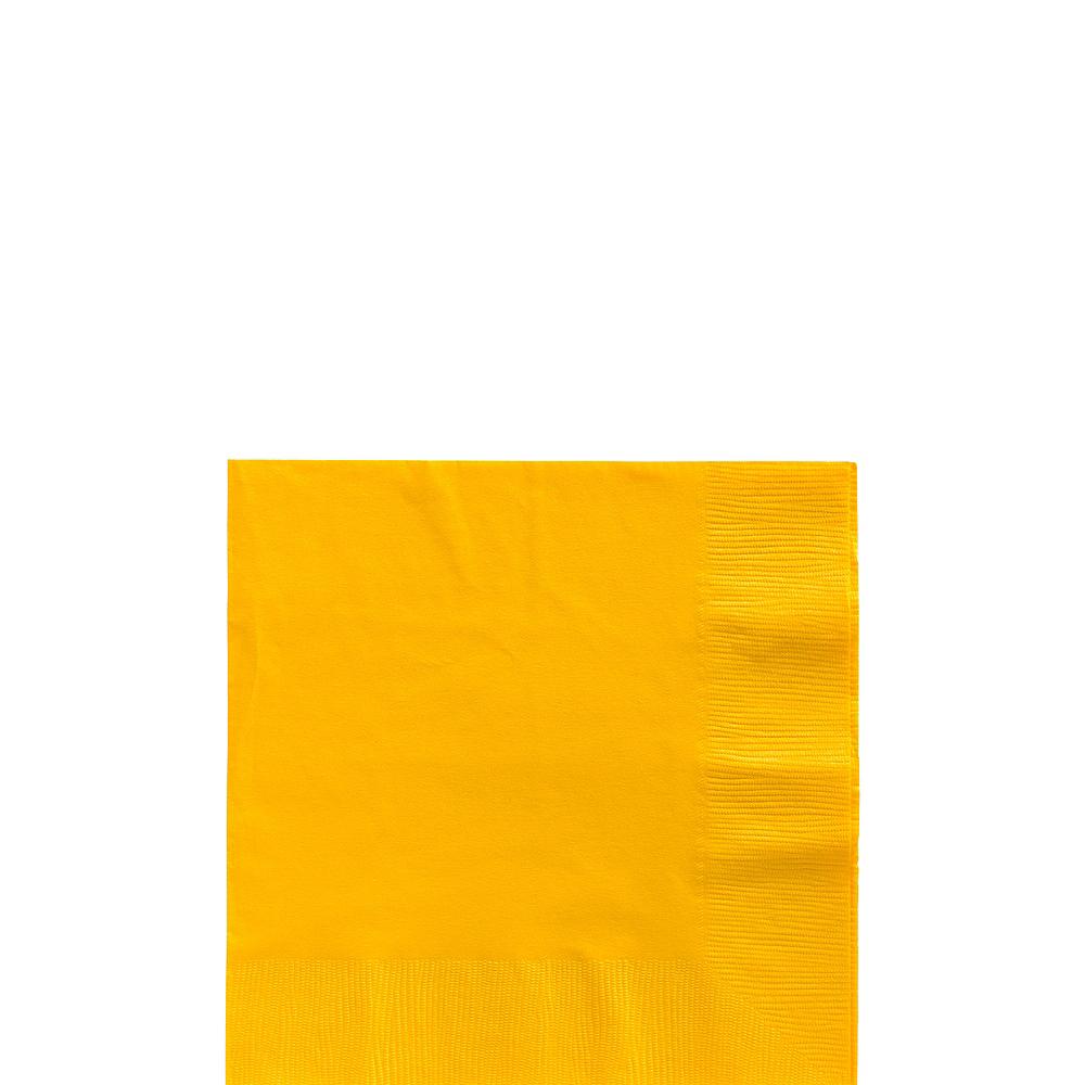 Big Party Pack Sunshine Yellow Beverage Napkins 125ct Image #1