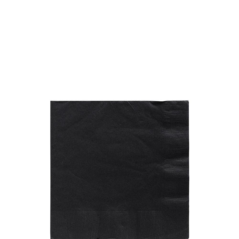 Big Party Pack Black Beverage Napkins 125ct Image #1