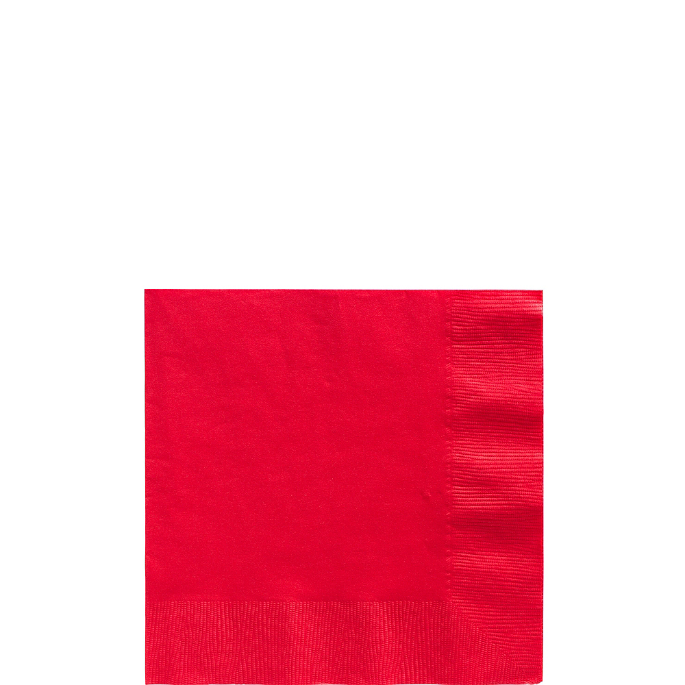 Big Party Pack Red Beverage Napkins 125ct Image #1
