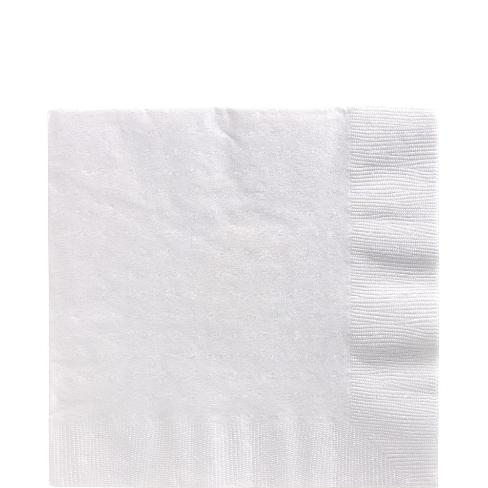 Big Party Pack White Lunch Napkins 125ct Image #1