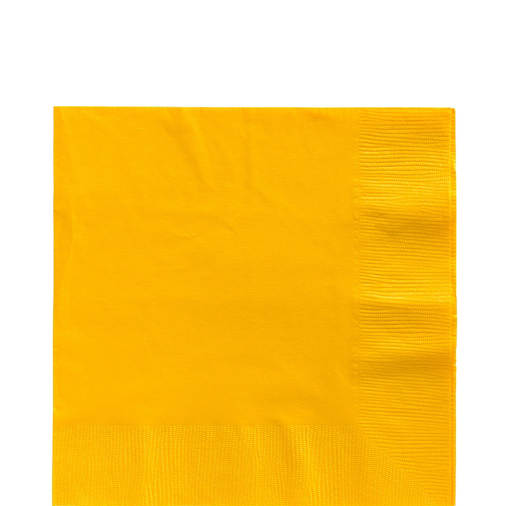 Big Party Pack Sunshine Yellow Lunch Napkins 125ct Image #1