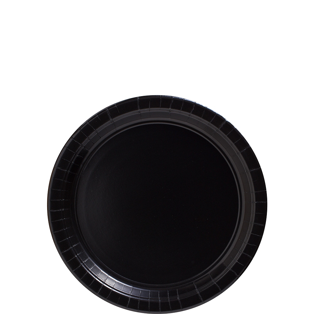 Black Paper Dessert Plates, 7in, 50ct Image #1