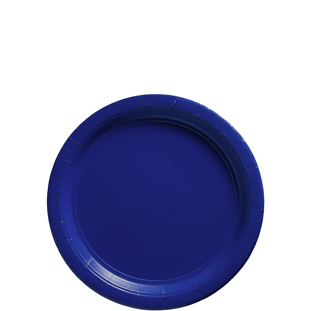 Royal Blue Paper Dessert Plates, 7in, 50ct Image #1