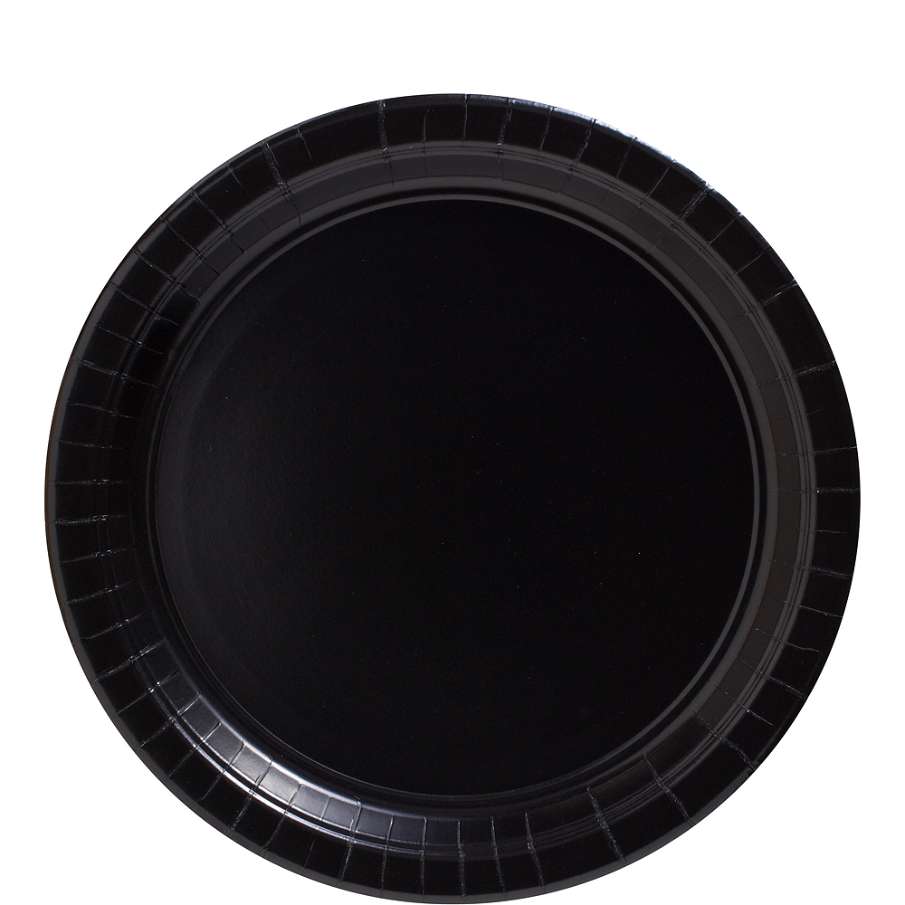 Nav Item for Big Party Pack Black Paper Lunch Plates 50ct Image #1