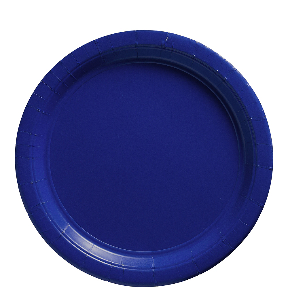 Royal Blue Paper Lunch Plates, 9in, 50ct Image #1