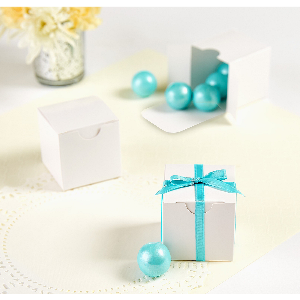 White Wedding Favor Boxes 100ct Party City