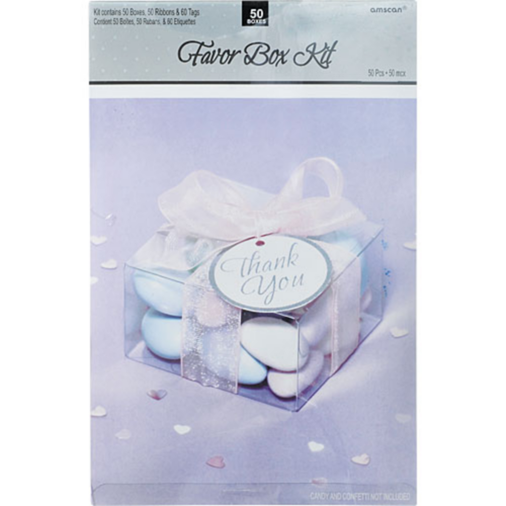 Clear Square Favor Box Kit Party City