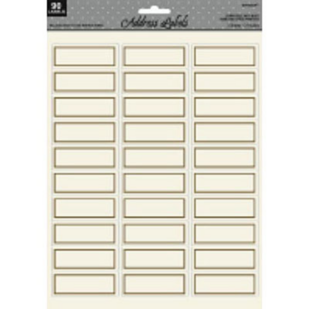 gold border printable address labels 90ct party city