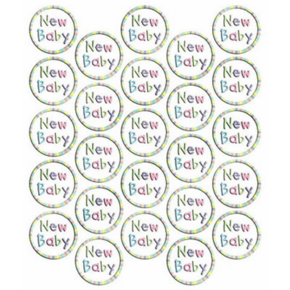 New Baby Sticker Seals 25ct Image #1